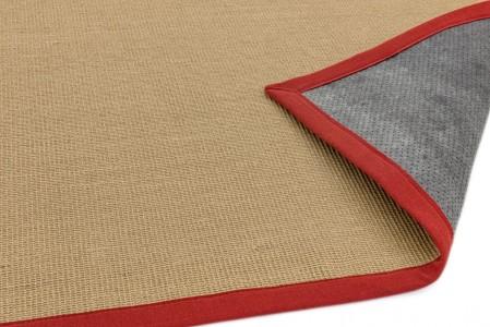 Sisal Anti Slip Hardwearing Rug - Red