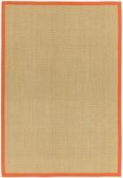Sisal Anti Slip Hardwearing Rug - Orange