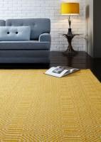 Sloan Geometric Flatweave Cotton Rug - Mustard
