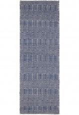 Sloan Geometric Flatweave Cotton Runner - Blue