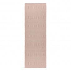 Sloan Geometric Flatweave Cotton Runner - Pink