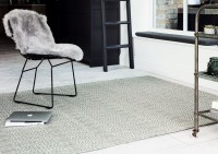 Sloan Geometric Flatweave Cotton Rug - Silver