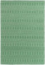 Sloan Geometric Flatweave Cotton Rug - Green