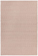 Sloan Geometric Flatweave Cotton Rug - Pink
