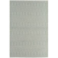 Sloan Geometric Flatweave Cotton Rug - Duck Egg