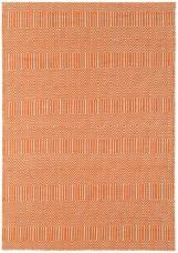 Sloan Geometric Flatweave Cotton Rug - Orange
