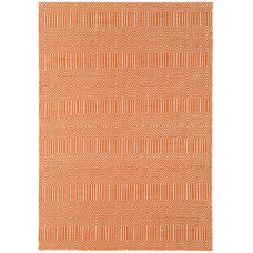 Sloan Geometric Flatweave Cotton Rug - Orange