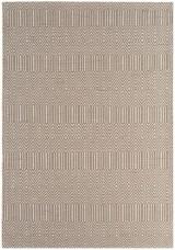 Sloan Geometric Flatweave Cotton Rug - Taupe
