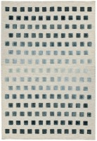 Theo Woven Kelim Rug - Silvery Squares