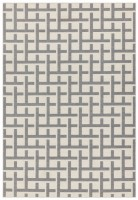 Antibes Geometric Rug - Grey White Grid AN03