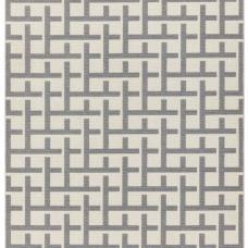 Antibes Geometric Outdoor Rug - Grey White Grid AN03