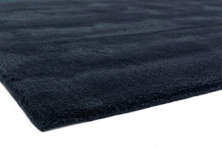 Aran Luxurious Wool & Viscose Rug - Midnight