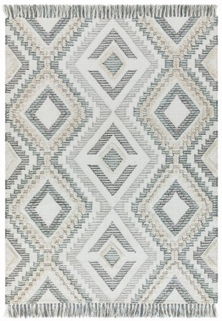 Carlton Geometric Rug - Grey