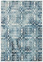 Fresco Dip Dyed Wool Geometric Rug - Blue