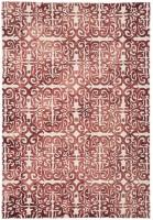 Fresco Dip Dyed Wool Geometric Rug - Red