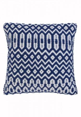 Halsey Geometric Flatweave Rug - Blue