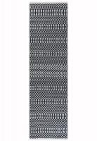 Halsey Geometric Flatweave Runner - Black