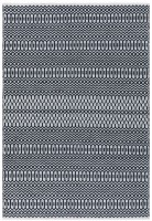 Halsey Geometric Flatweave Rug - Black