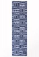 Halsey Geometric Flatweave Runner - Blue
