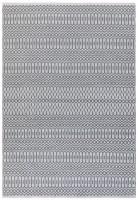 Halsey Geometric Flatweave Rug - Grey
