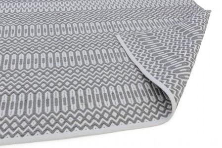 Halsey Geometric Flatweave Runner - Grey