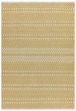 Halsey Geometric Flatweave Rug - Mustard
