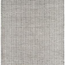 Ives Jute Flatweave Rug - Black / White