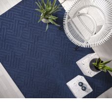 Antibes Geometric Outdoor Rug - Blue Linear AN05