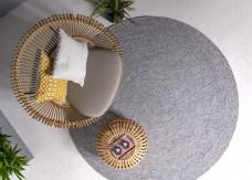 Nico XL Circle Rug - Grey