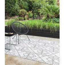 Patio Geometric In/Outdoor Rug - Deco Ivory