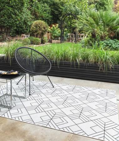 Patio Geometric Rug - Deco Ivory