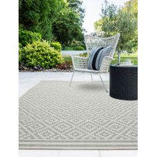 Patio Geometric In/Outdoor Rug - Diamond Grey