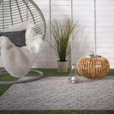 Salta In/Outdoor Rug - Silver Geometric