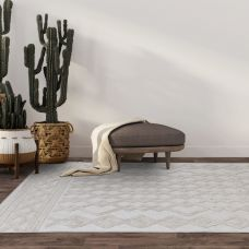 Salta Geometric In/Outdoor Rug - White Links