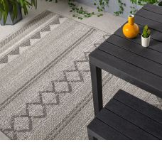 Varanda Geometric In/Outdoor Rug - Natural Diamond