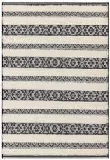 Monty Stripe Rug - Black Cream
