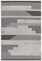 Monty Geometric Rug - Black Grey