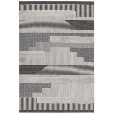 Monty Geometric Rug - Black Grey