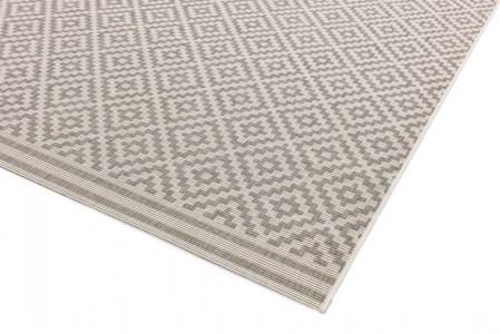 Patio Geometric Rug - Diamond Grey