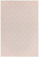 Patio Geometric Rug - Pink Jewel