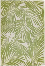 Patio Floral Rug - Green Palm