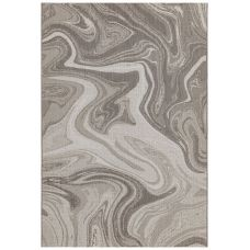 Patio Abstract In/Outdoor Rug - Natural Marble