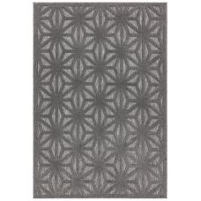 Salta Geometric In/Outdoor Rug - Anthracite Star