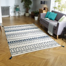 Beni Tribal Rug - Blue
