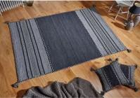 Kelim Ethnic Rug - Charcoal