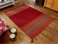 Kelim Ethnic Rug - Red