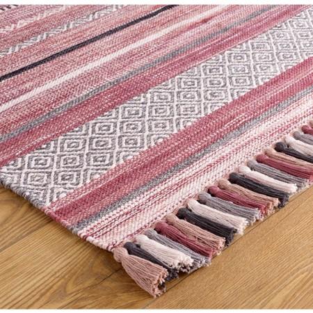 Kelim Ethnic Runner - Pink Stripe