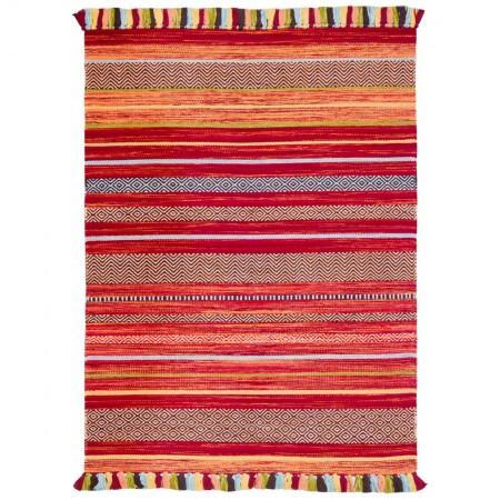 Kelim Ethnic Rug - Red Stripe