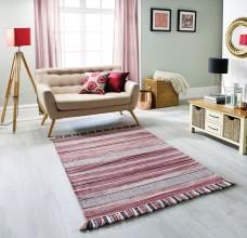 Kelim Ethnic Rug - Pink Stripe