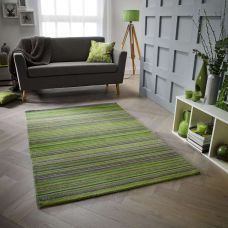 Calais Stripe Rug - Green